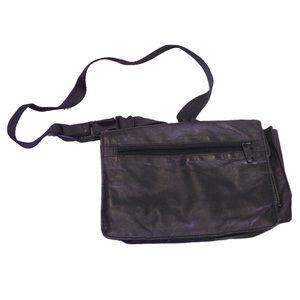 Wilsons Leather black fanny waist pack satchel
